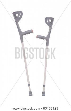 Invalid walking stick  isolated under the white background
