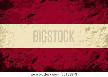 Austrian flag. Grunge background. Vector illustration