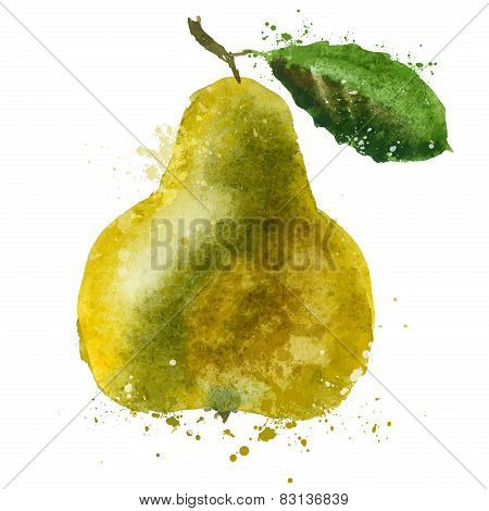 PEAR vector logo design template. fruit or food icon.