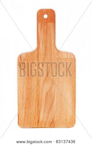 Clean new cutting board isolated on white background