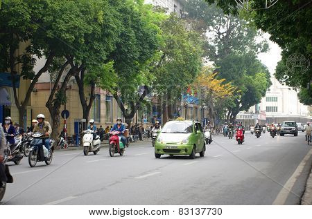 Traffic On Hanoi Street