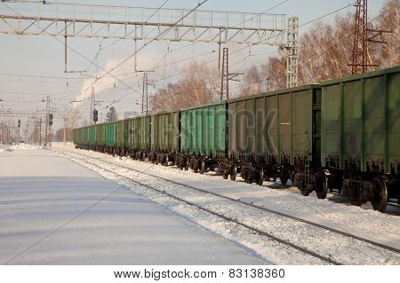 freight cars at the station