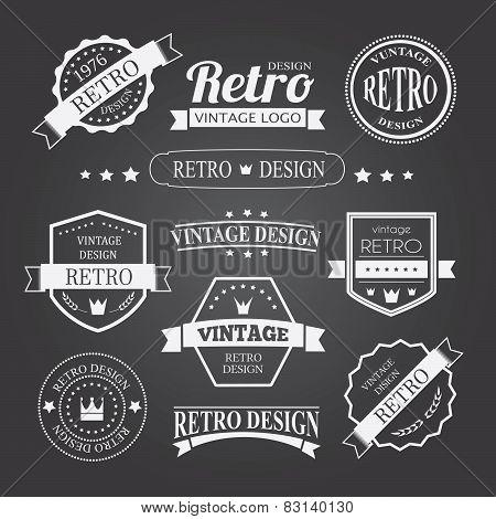 Retro Vintage Insignias Or Logotypes Set