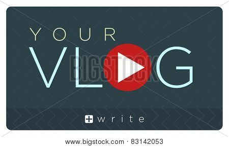 Vector illustration of vlog banner, video blogging