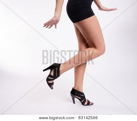 Beautiful Female Torso Perfect Shoes Dancing Joyfully