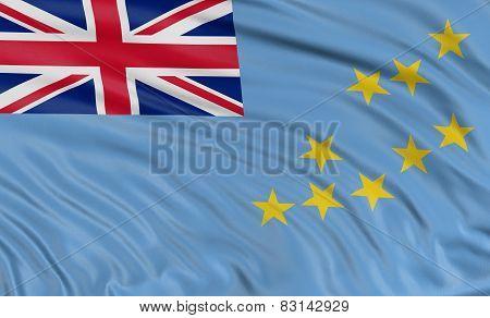 3D Tuvalu flag