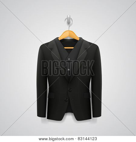 jacket on a hanger. vector illustration