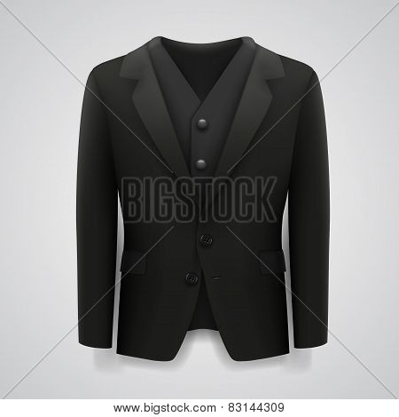 Jacket on a white background
