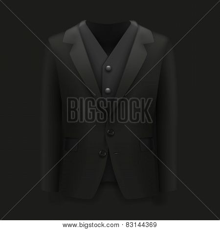 Jacket over a black background