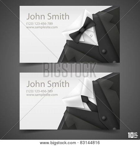 Triangle jacket card. vector illustration