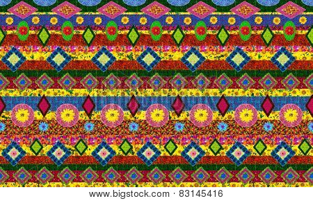 Ukrainian National Traditional Shirt Pattern Isolated
