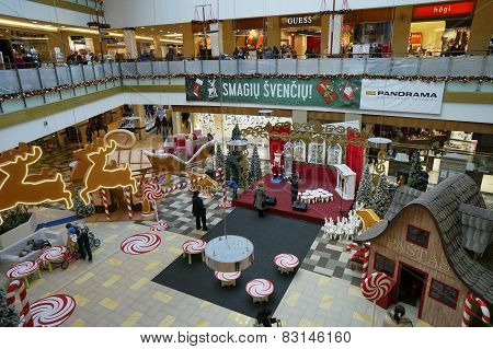 Christmas Fair In Hypermarket