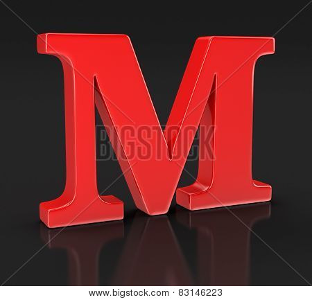 Letter M (clipping path included)