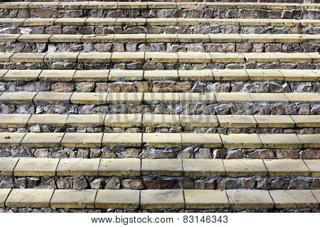 Steps Of A  Stone Ladder