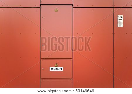 The Orange  Metal Door