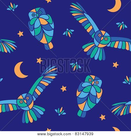 Magic midnight - seamless pattern
