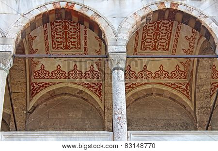 Arches Of Blue Mosque, Istanbul, Turkey