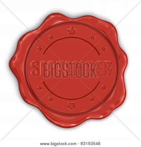 Wax Stamp september (clipping path included)
