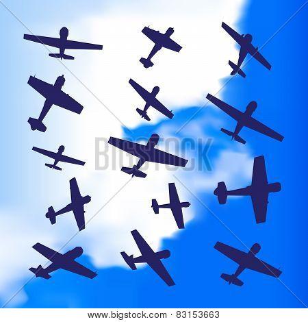 Plane silhouette