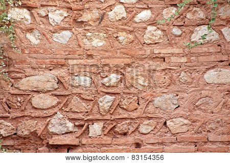 Ancient Wall In Delphi