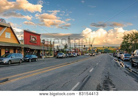 West Yellowstone, MT - CIRCA JUNE 2014 - American Roads