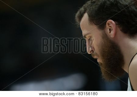 VALENCIA, SPAIN - FEBRUARY 15: Rodriguez during Spanish League match between Valencia Basket Club and Real Madrid at Fonteta Stadium on February 15, 2015 in Valencia, Spain