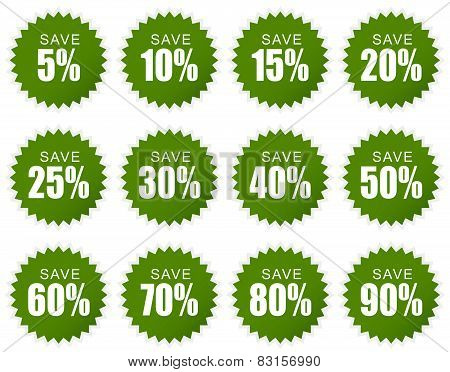 Discount Sticker - Green