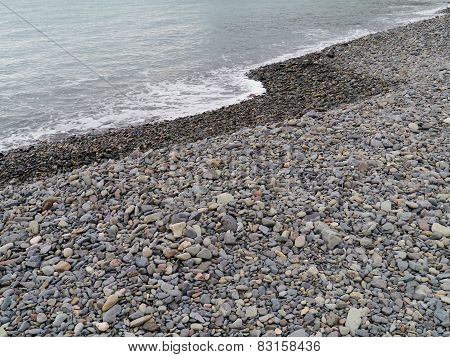 One of the black pebbles beaches