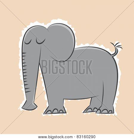 retro cartoon elephant