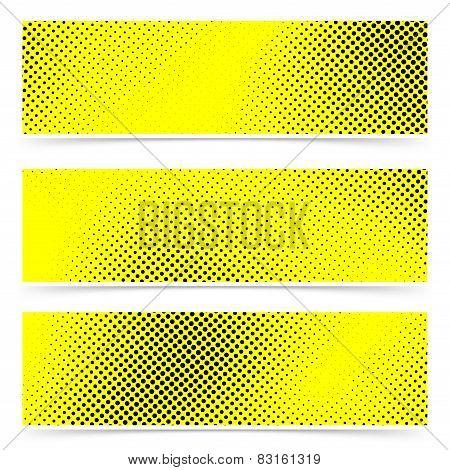 Pop Art Dot Web Yellow Banner Collection