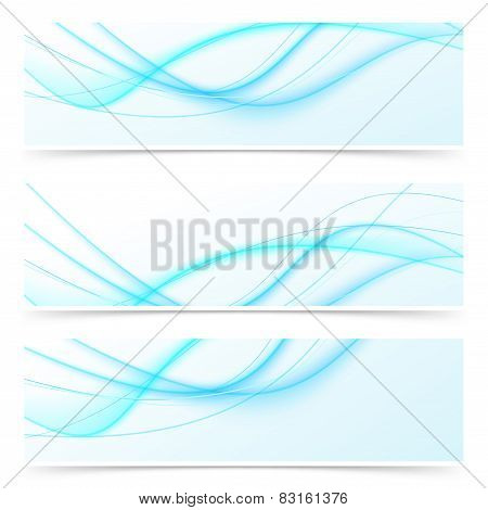 Blue Speed Swoosh Line Abstract Modern Web Banner