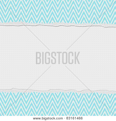 Teal And White Torn Chevron Frame Background