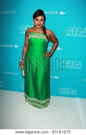 LOS ANGELES - FEB 17:  Mindy Kaling at the 17th Costume Designers Guild Awards at a Beverly Hilton Hotel on February 17, 2015 in Beverly Hills, CA