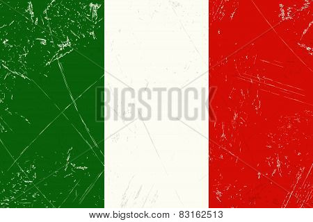 Grunge Flag Country - Italy