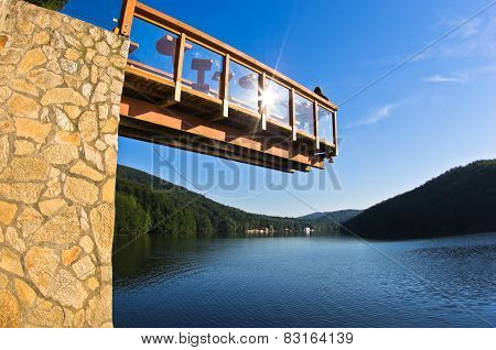 Viewpoint platform over the lake Gozna