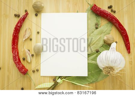 Seasoning Set With Copy Space Paper