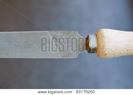 Old Fashioned File With Wooden Grip