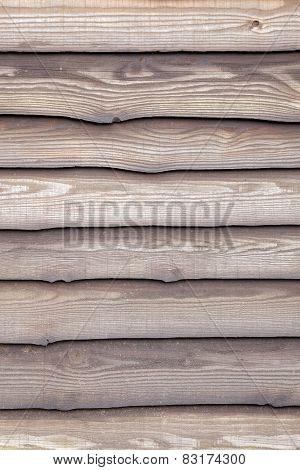 Brown Varnished Planks On Outside Of Barn