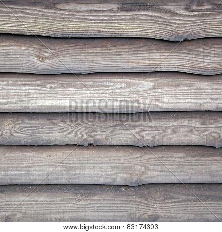 Wheathered Planks On Old Barn