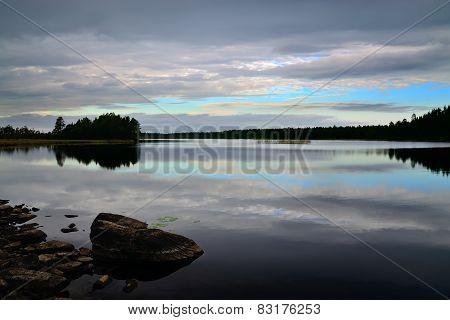 White Nights. Northern Karelia, Russia