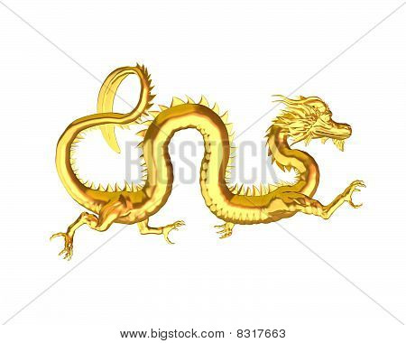 Golden Chinese Dragon - 3