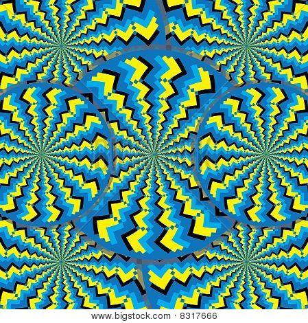 Zigzag Wheelies (motion illusion)