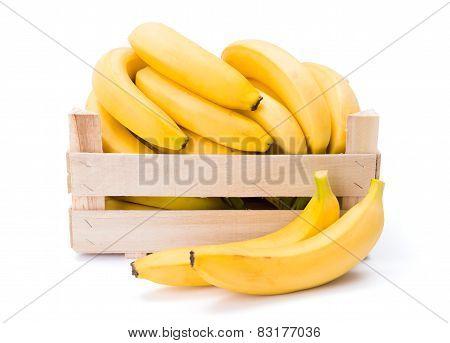 Bananas In Wooden Crate