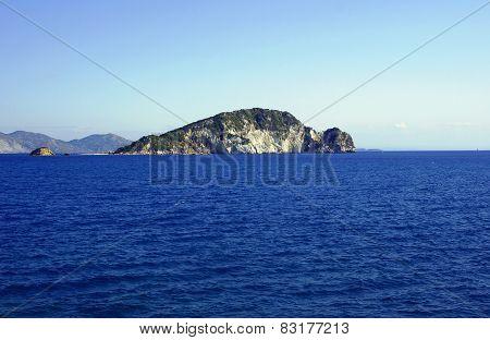 coast on Zakynthos island