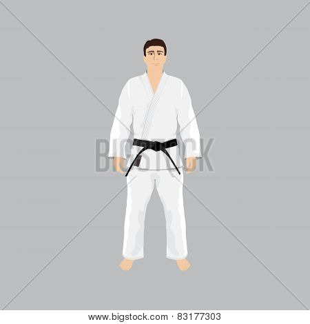 Men in sport wear judo and jiu-jitsu