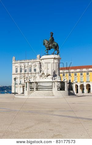 Commerce square  in Lisbon, Portugal