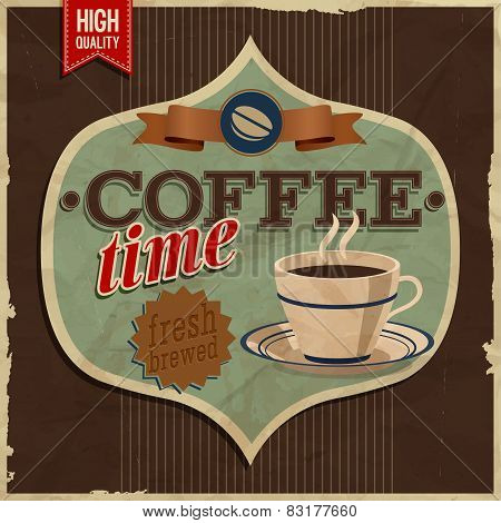 Vintage Card - Coffe Time.