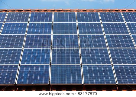 solar panels on the roof, symbol, l for alternative energy, ecology, sustainability
