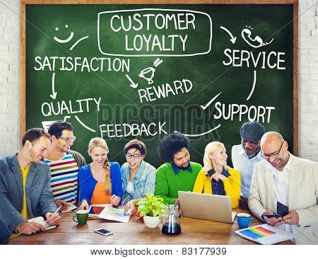 Customer Loyalty Satisfaction Support Strategy Concept