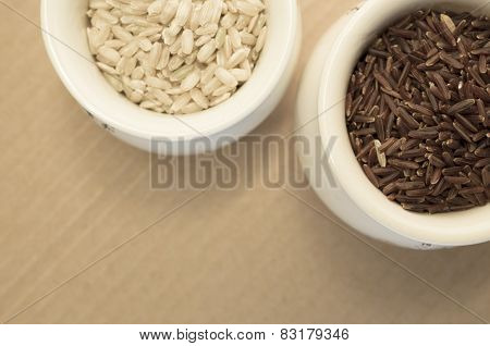 Wholemeal Rice Grains In A Cup